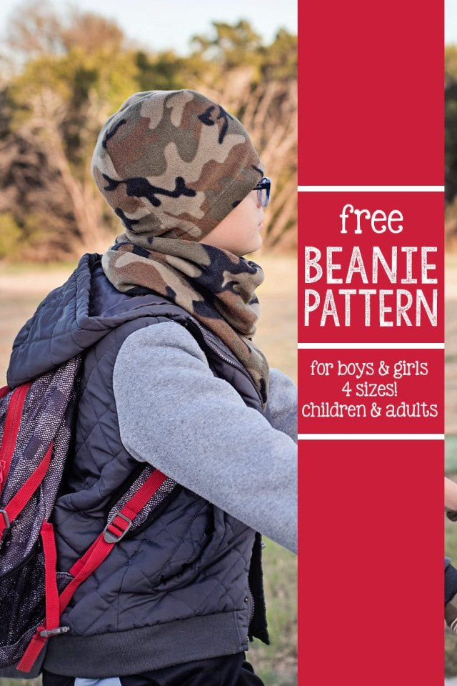 Beanie Hat Pattern Sewing Free Beanie Hat Pattern 4 Sizes Scattered Thoughts Of A Crafty