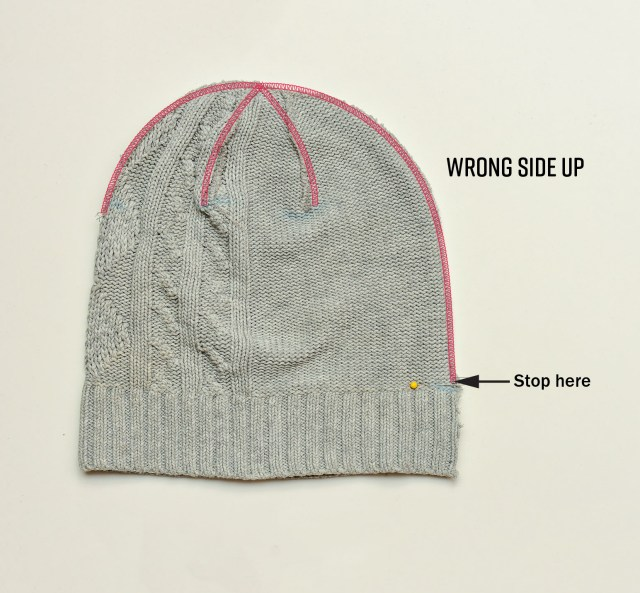 Beanie Hat Pattern Sewing How To Sew A Beanie Using A Sweater Last Stitch
