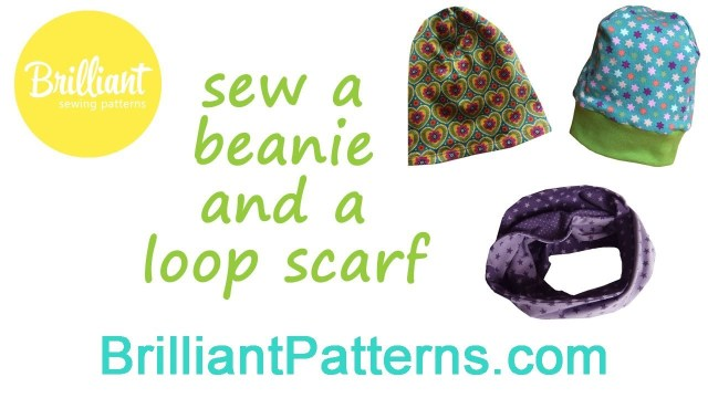 Beanie Hat Pattern Sewing Sew A Beanie And Loop Scarf Brilliant Patterns Youtube