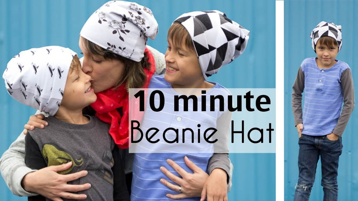 Beanie Hat Pattern Sewing Sew A Beanie Hat In 10 Minutes Youtube