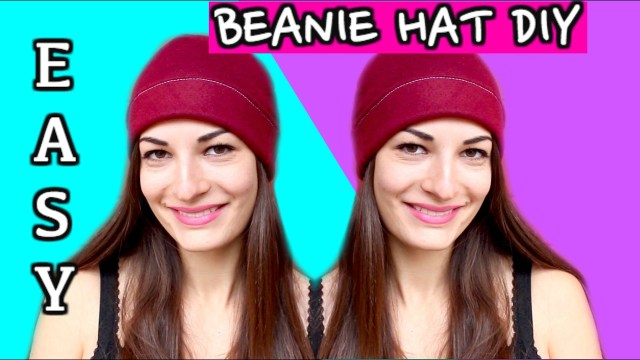 Beanie Sewing Pattern How To Make A Beanie Hat Without A Pattern Sewing Easy Diy Beanie