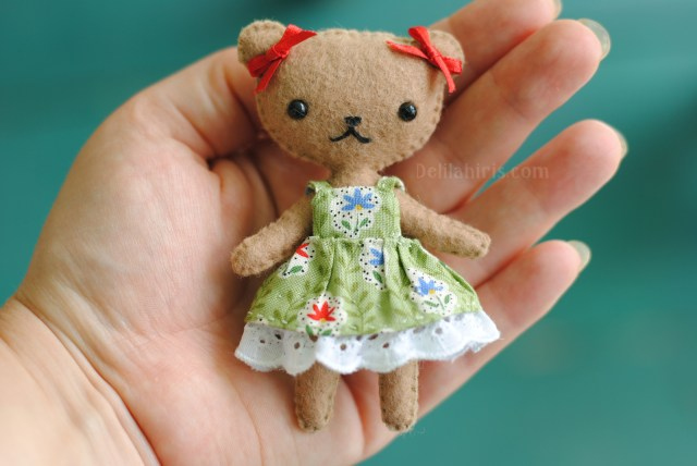 Bear Sewing Pattern Teddy Bear Doll Sewing Pattern Delilah Iris