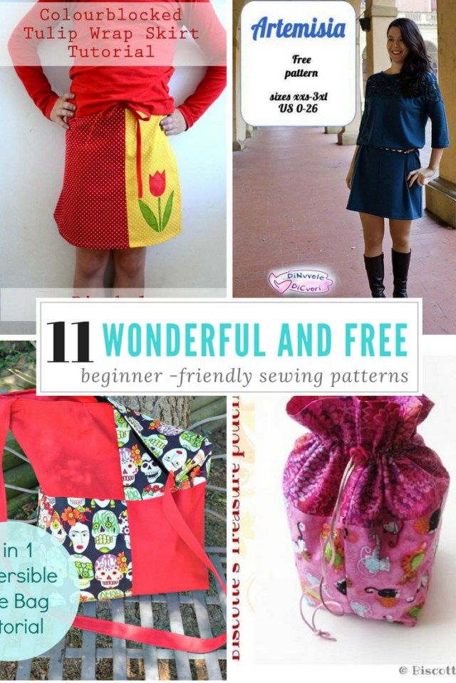 Beginner Sewing Patterns 11 Free Sewing Patterns That Are Perfect For Beginners Simple Bags