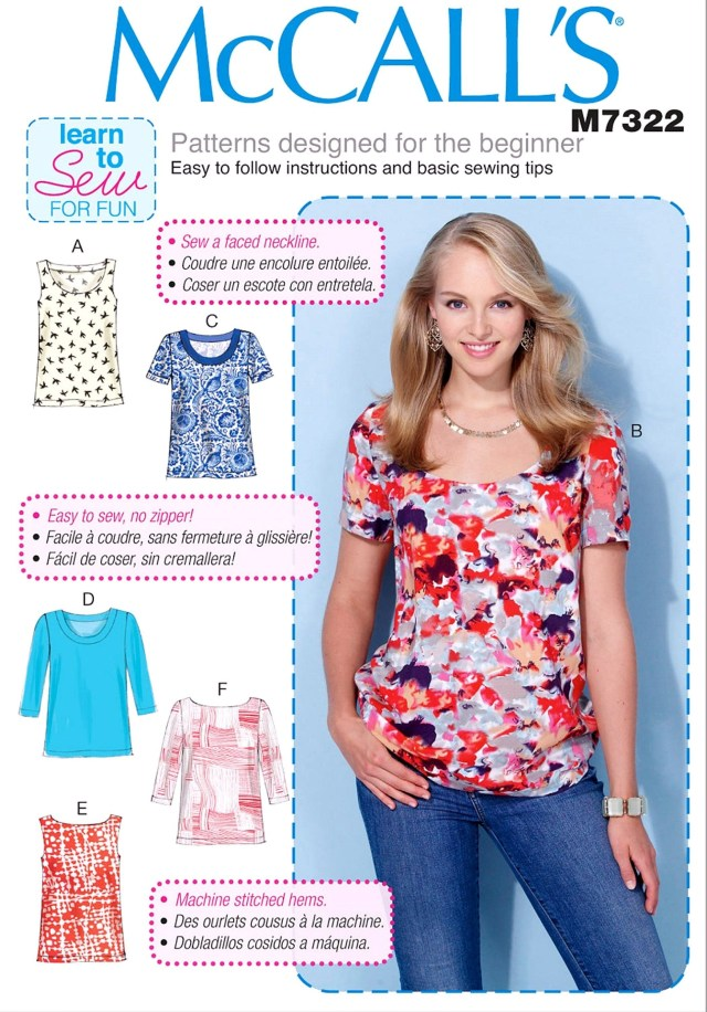 Beginner Sewing Patterns Beginner Sewing Pattern Pullover Top Pattern Easy Tops Pattern
