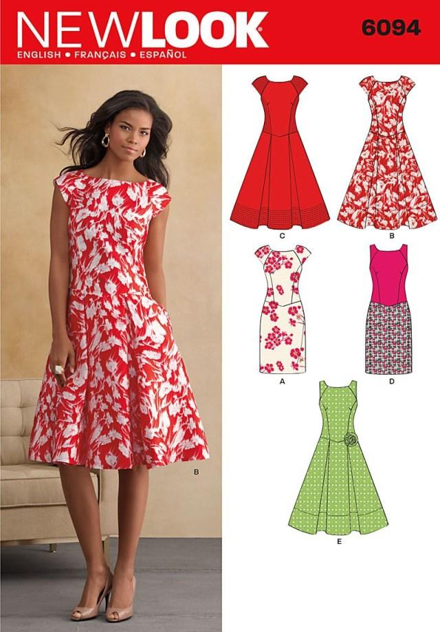 Beginner Sewing Patterns Free Beginner Sewing Patterns Patterns New Look Dresses 6094