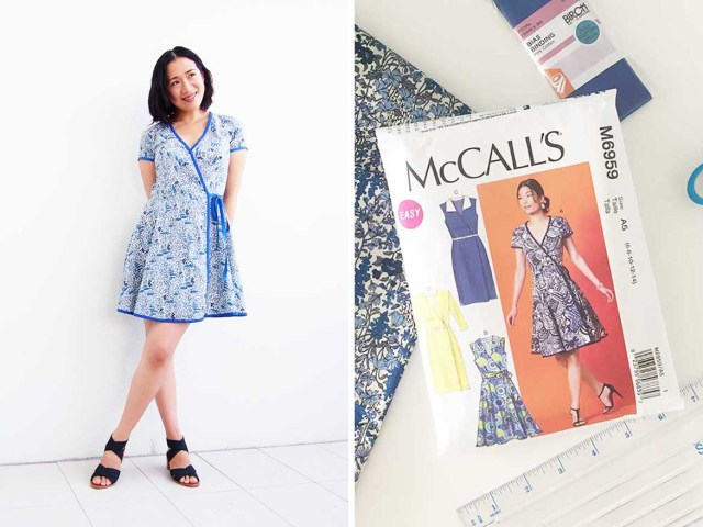 Beginner Sewing Patterns Part 4 Final Mccalls Patterns M6959 Sew Along Wrap Dress Is