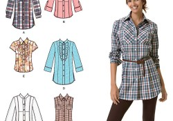 Blouse Sewing Pattern Easy Womens Shirt Easy Sewing Pattern 2447 Simplicity Easy To Sew