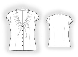 Blouse Sewing Pattern Free Blouse Sewing Pattern 4056 Made To Measure Sewing Pattern From