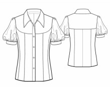 Blouse Sewing Pattern Free Blouse With Shaped Yoke Sewing Pattern 5743 Made To Measure