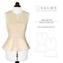Blouse Sewing Pattern Free Salme Sewing Patterns 129 Peplum Top Downloadable Pattern