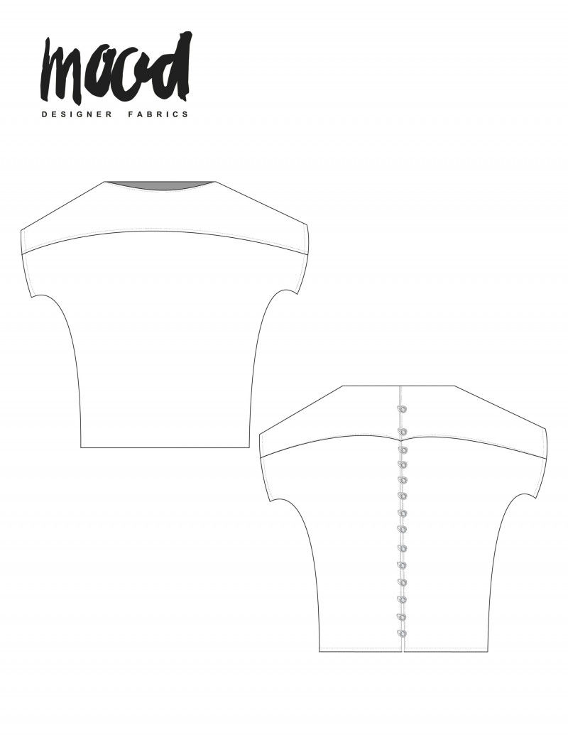 Blouse Sewing Pattern Free The Kleinia Blouse Free Sewing Pattern Mood Sewciety