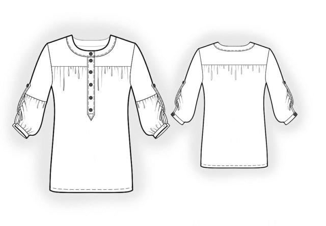 Blouse Sewing Patterns Chiffon Blouse Sewing Pattern 4013 Made To Measure Sewing