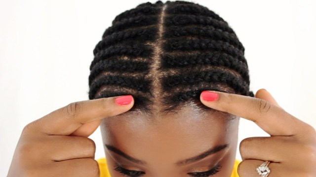 Braid Pattern For Middle Part Sew In Braid Pattern For Lace Closure Sew In Tutorial Part 2 Of 7 Youtube