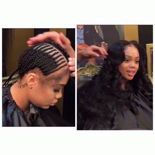 Braid Pattern For Middle Part Sew In Middle Part Sew In Hair Pinterest Hair Hair Styles And Braids