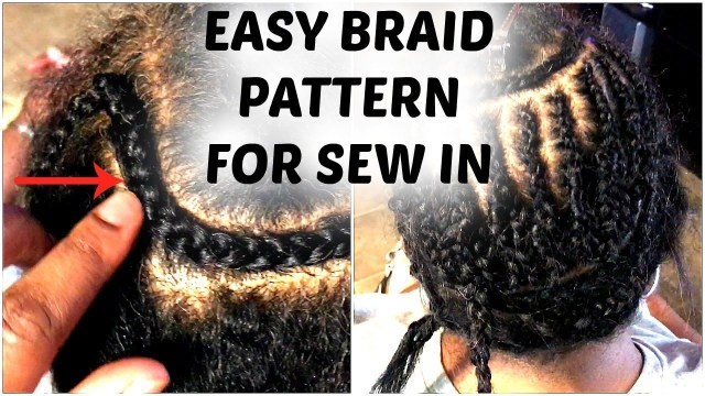 Braid Pattern For Middle Part Sew In The Best Braid Pattern For Middle Part Sew In Youtube