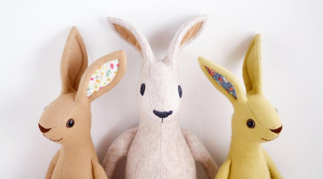 Bunny Sewing Pattern Bunny Rabbit Sewing Pattern Bundle From Left To Right Floppy Ear