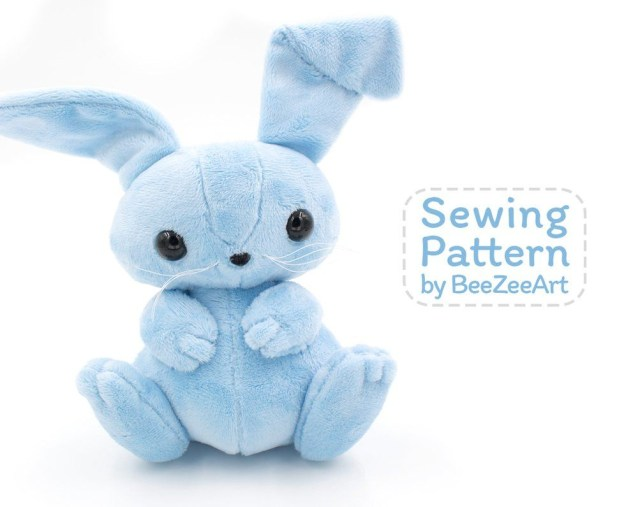Bunny Sewing Pattern Bunny Sewing Pattern Beezee Art Small Valentine Pinterest
