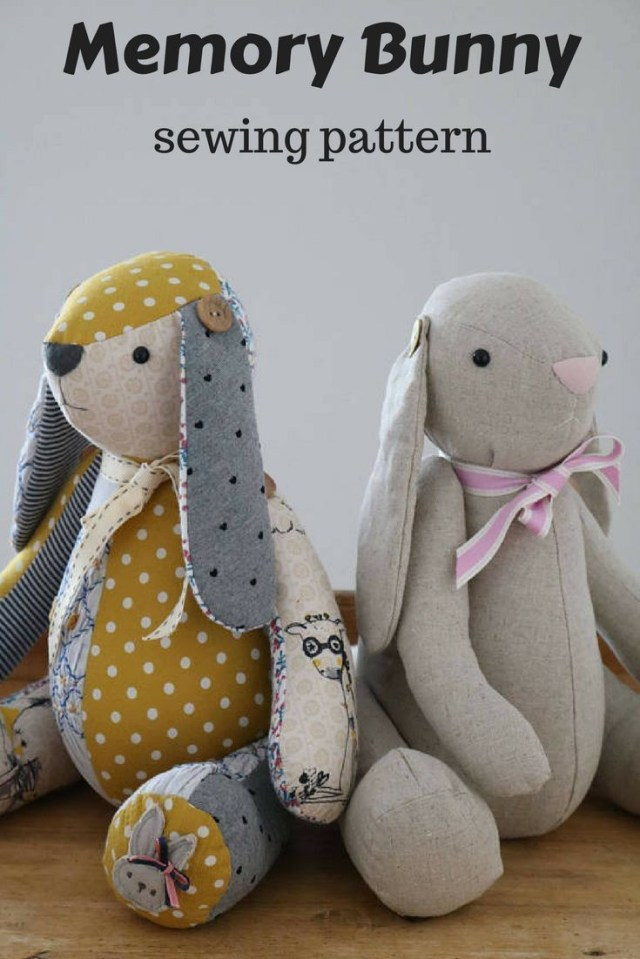 Bunny Sewing Pattern Memory Bunny Pattern Posted Memory Keepsake Bunny Sewing Pattern