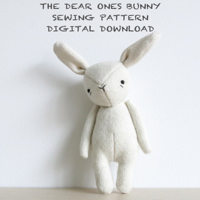 Bunny Sewing Pattern Sewing Pattern The Dear Ones Bunny Soft Toy Pdf Pattern Digital