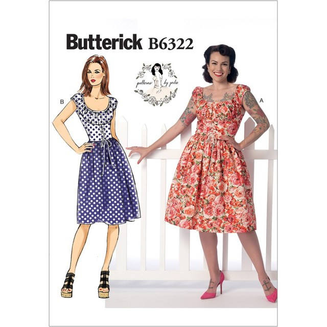 Butterick Sewing Patterns Misses Ruched Corset Style Dress Butterick Sewing Pattern 6322 Sew