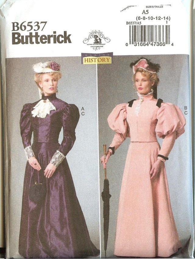 Butterick Sewing Patterns New Butterick Sewing Pattern 6537 Misses Victorian Gibson Girl