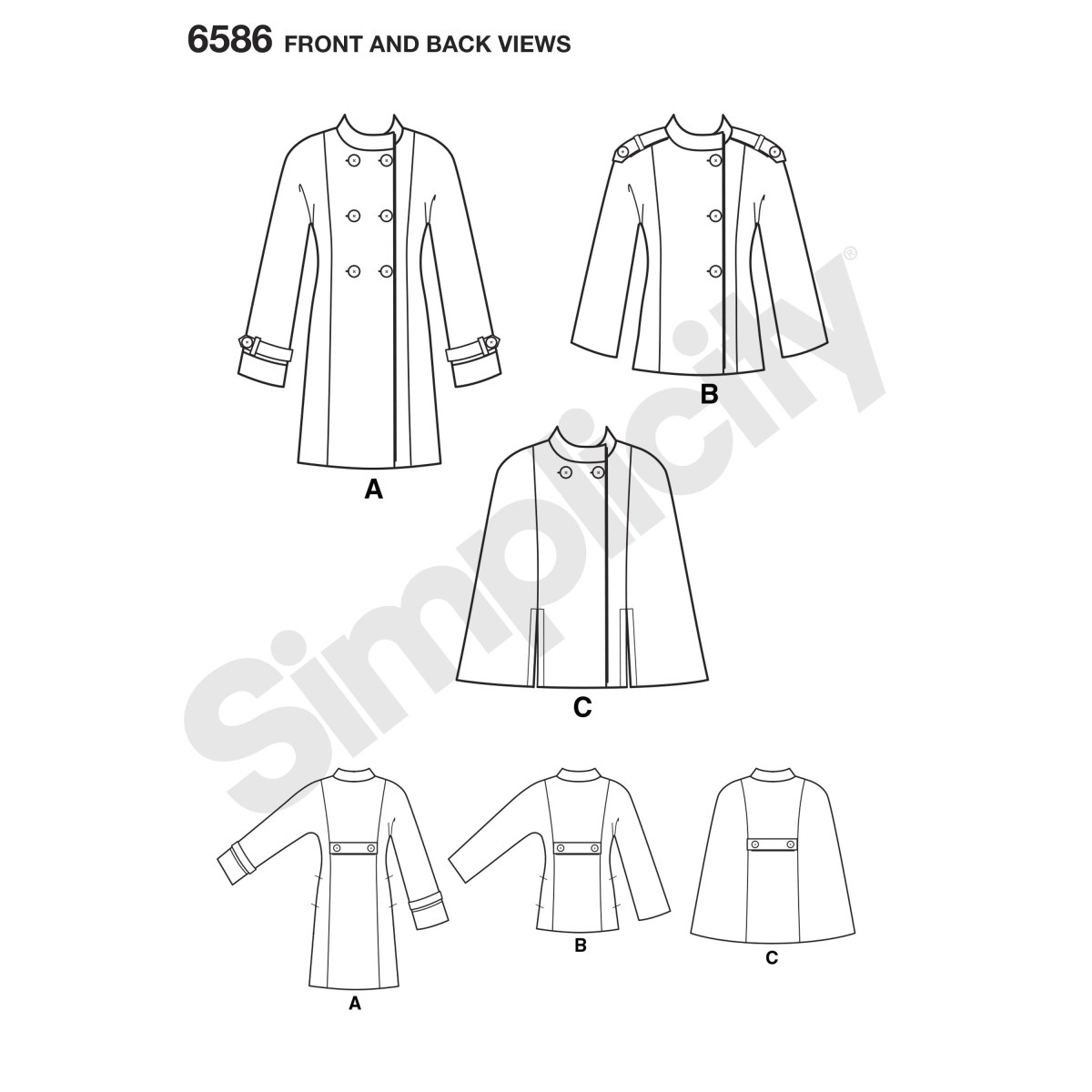 Cape Sewing Pattern New Look Sewing Pattern 6586 Misses Coat Or Cape