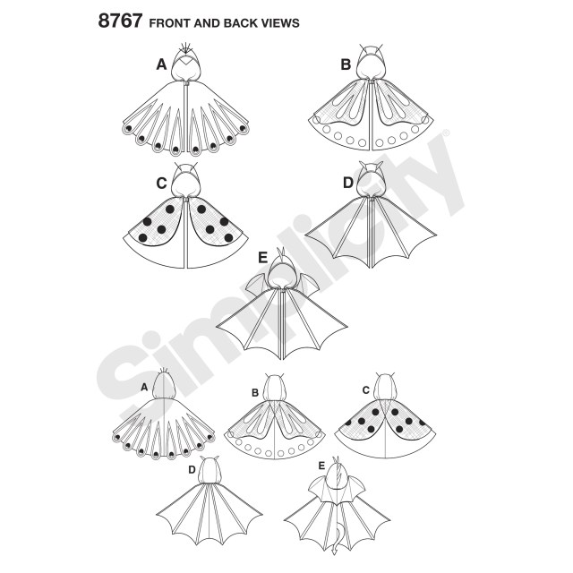 Cape Sewing Pattern Pattern 8767 Childs Cape Costumes New Forest Fabrics