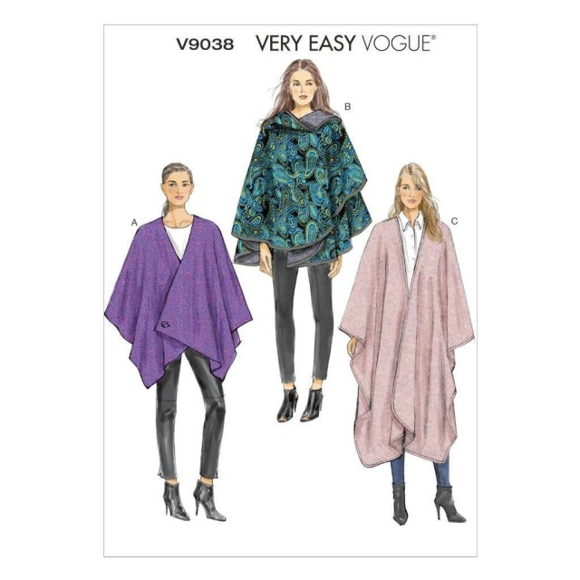 Cape Sewing Pattern Vogue Sewing Pattern Misses Very Easy Vogue Cape Xsm Xxl V9038