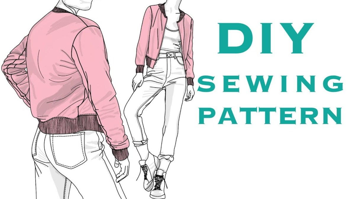 Cardigan Pattern Sewing Diy Design A Bomber Jacket Sewing Pattern Youtube