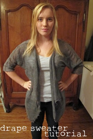 Cardigan Pattern Sewing Diy Drape Front Sweater Tutorial
