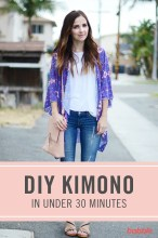 Cardigan Pattern Sewing Diy How To Diy A Kimono In Less Than 30 Minutes Babble