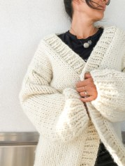 Cardigan Pattern Sewing Diy Simone Chunky Cardigan Knitting Pattern And Kit Flax Twine