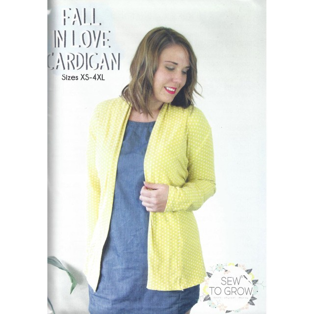 Cardigan Sewing Pattern Fall In Love Cardigan Sew To Grow Sewing Pattern Sew Essential