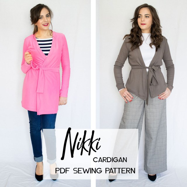 Cardigan Sewing Pattern Nikki Cardigan Pdf Sewing Pattern Athina Kakou