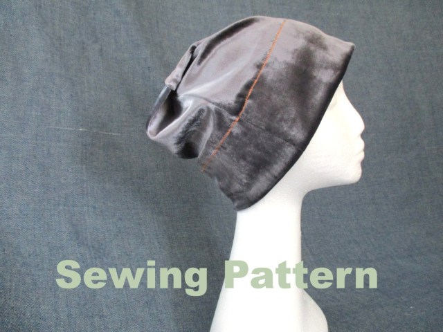 Chemo Caps Sewing Patterns Slouchy Velvet Beanie Hat Sewing Pattern Pdf Bad Hair Day Etsy