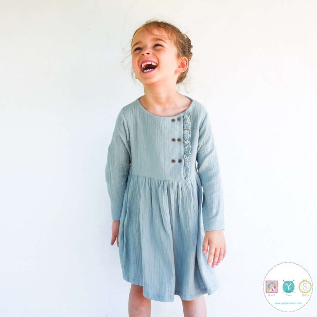 Childrens Sewing Patterns Elona Girls Dress Ikatee French Sewing Patterns For Kids
