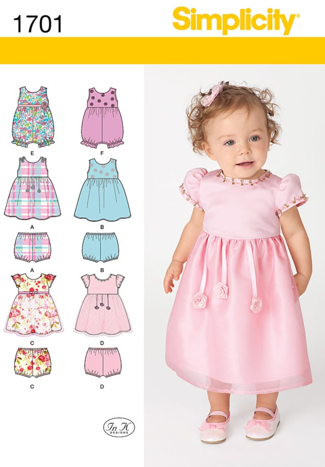 Childrens Sewing Patterns Simplicity 1701 Sewing Pattern Babies Dress Romper And Panties In
