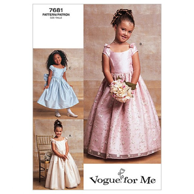 Childrens Sewing Patterns Vogue Childrens Sewing Pattern 7681 Special Occasion Dresses