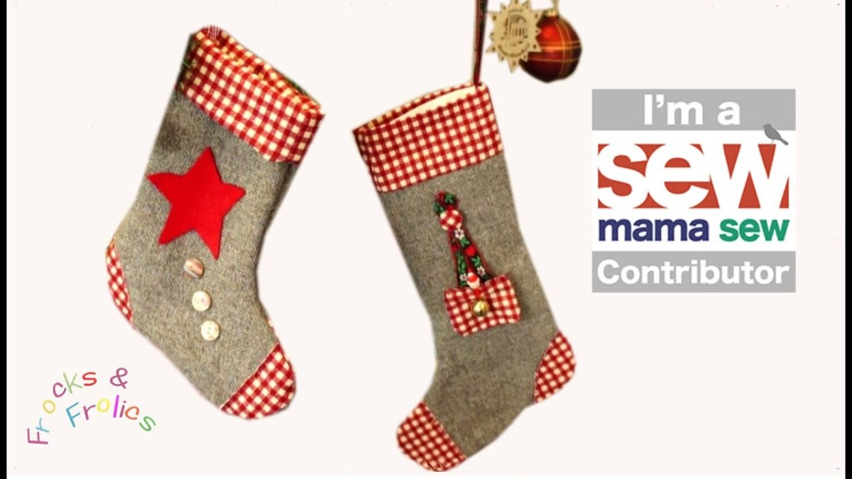 Christmas Stocking Sewing Pattern How To Sew A Christmas Stocking Free Seasonal Templatepack Youtube