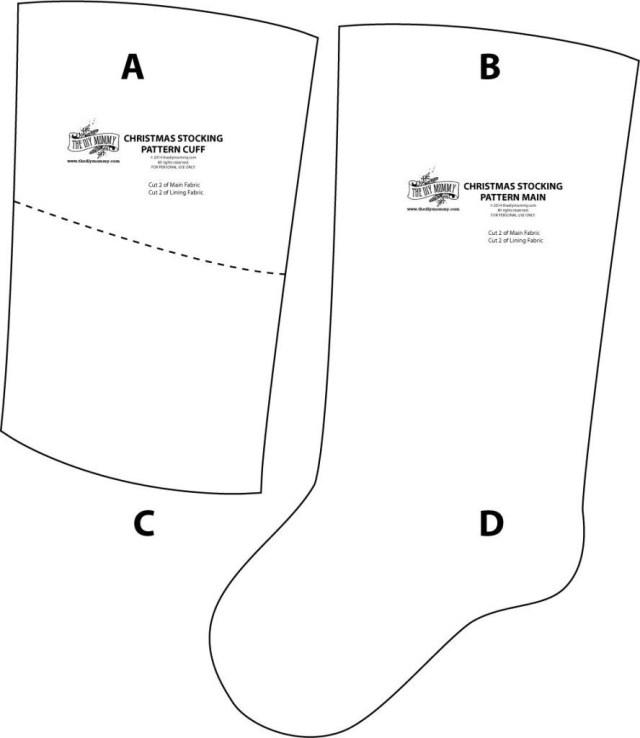 Christmas Stocking Sewing Pattern Sew Linen Burlap Christmas Stockings Anthropologie Inspired