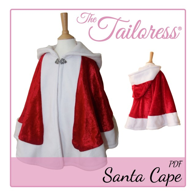 Cloak Sewing Pattern Bav Christmas Santa Cape Pdf Sewing Pattern The Tailoress
