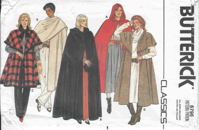 Cloak Sewing Pattern Dellajane Sewing Patterns For Coats Jackets Capes Ponchos