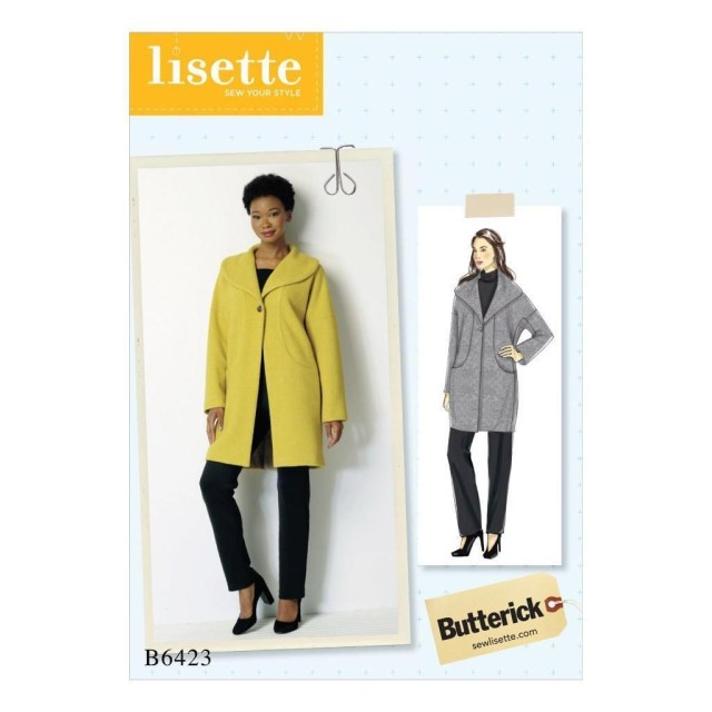 Coat Sewing Patterns Butterick Sewing Pattern Misses Lisette Lined Coat Size Xsm Xxl B6423