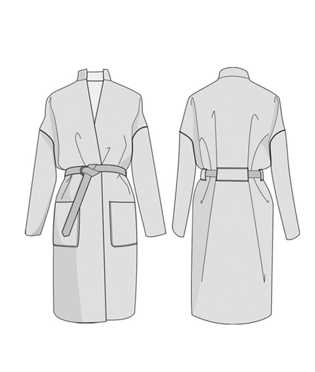 Coat Sewing Patterns Riga Coat Pdf The Foldline