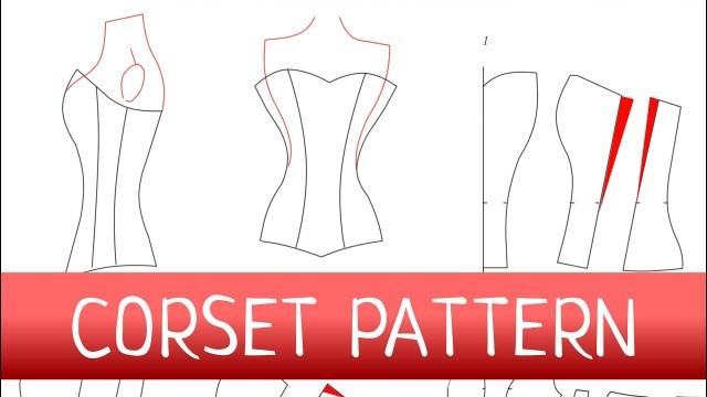 Corset Sewing Pattern Corset Pattern How To Make A Corset Free Pattern Youtube