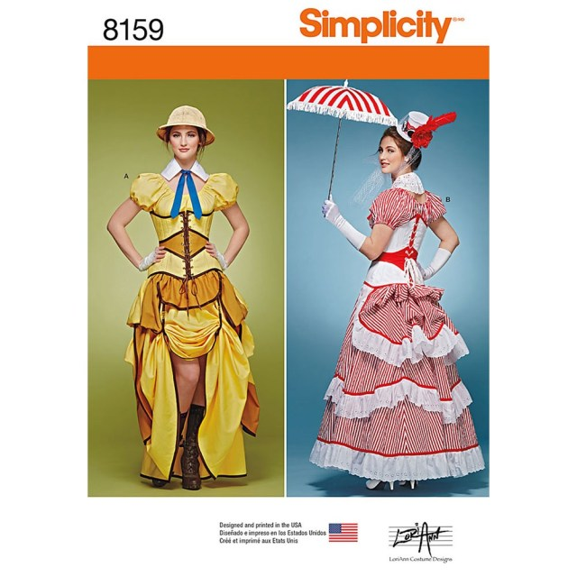 Cosplay Sewing Patterns Misses Cosplay Costumes With Corsets Simplicity Sewing Pattern 8159