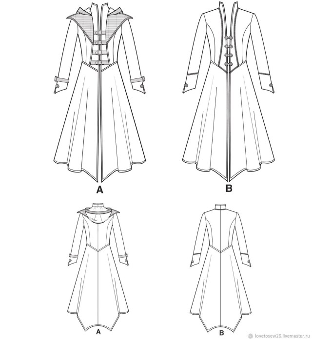 Cosplay Sewing Patterns Sewing Pattern Cosplay Halloween Carnaval Steampunk Gothic Coat