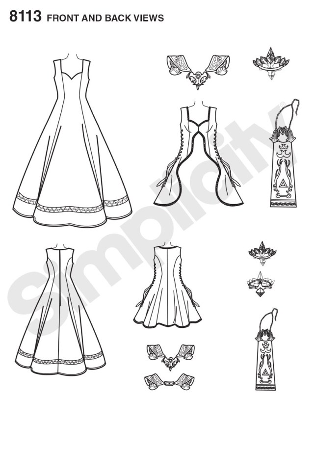 Cosplay Sewing Patterns Simplicity 8113 Misses Costume With Craft Foam Armor Belt Crown