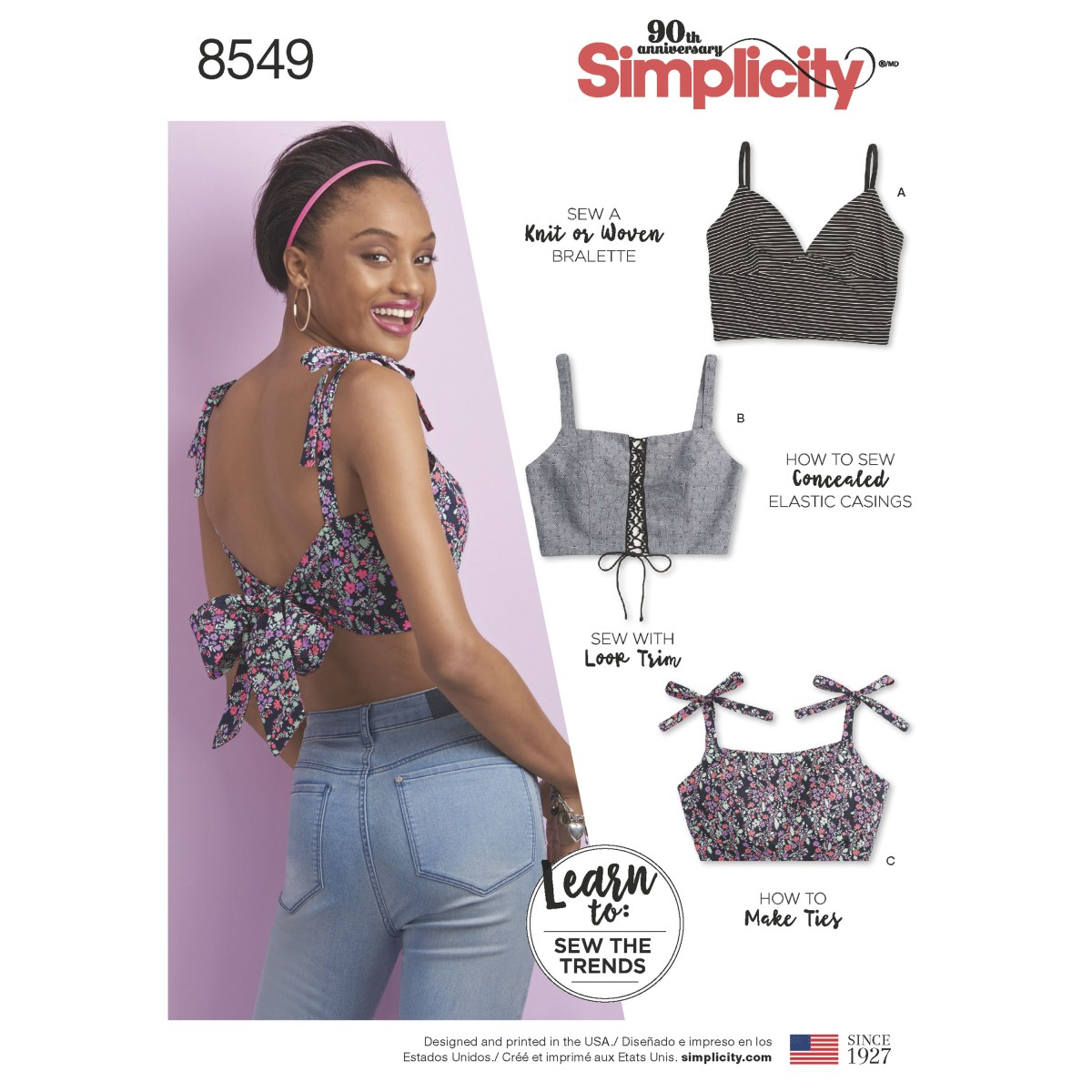 Crop Top Sewing Pattern Simplicity Pattern 8549 Misses Bra Tops