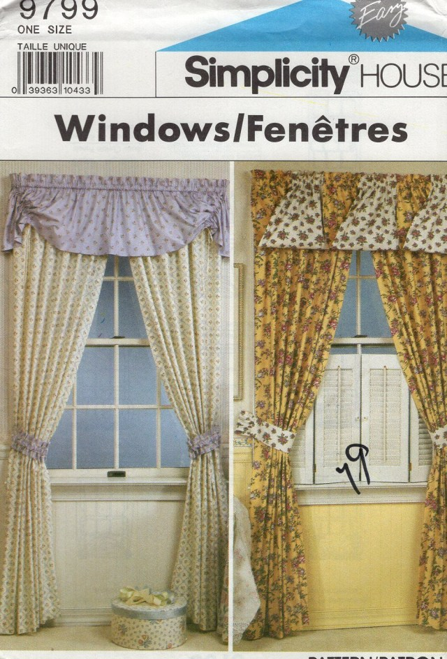 Curtain Sewing Patterns Free Us Ship Simplicity 9799 House Home Decorating Window Treatments